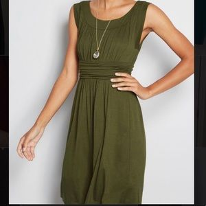 I Love Your Jersey dress by ModCloth in Olive